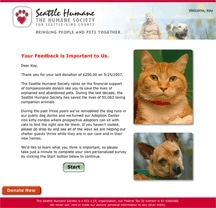 Seattle Humane Society Campaign 2011
