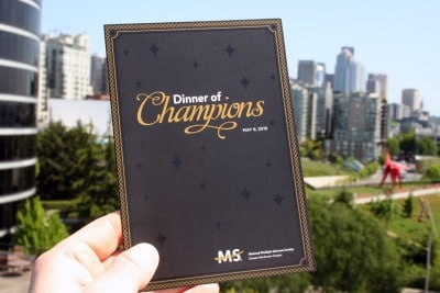 Case Study: Printing the National MS Society's Dinner of Champions Invitation