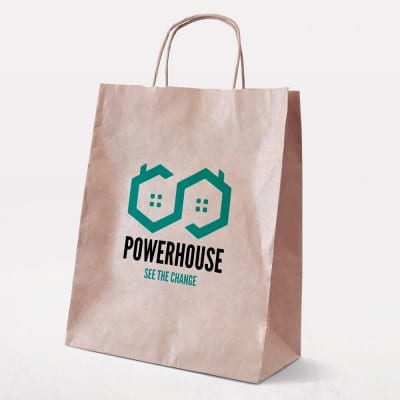 "Example of Printed Bags - ""POWERHOUSE See the Change"""