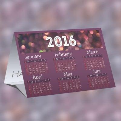 Calendar Printing Example - 2016