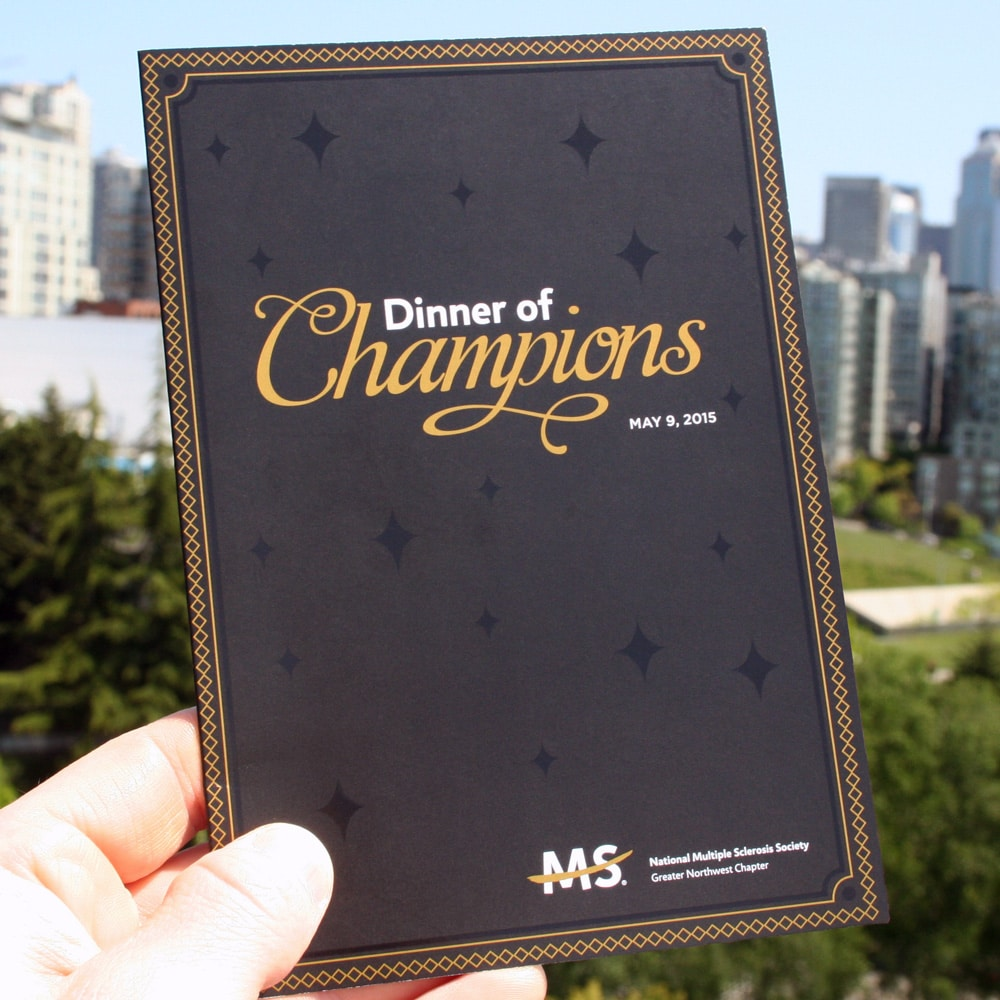 "Invitation Printing Package Example - ""Dinner of Champions"""