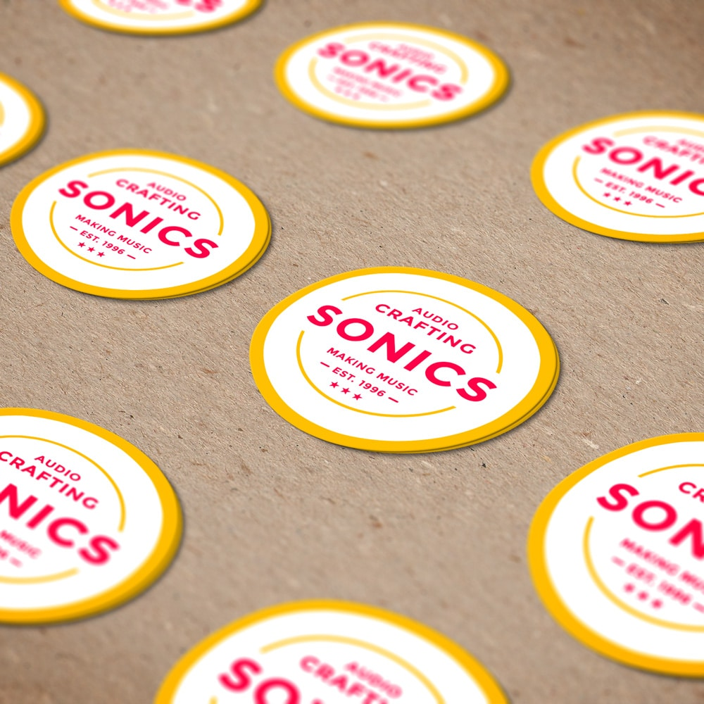 "Label Printing Example - ""SONICS Audio Crafting"""