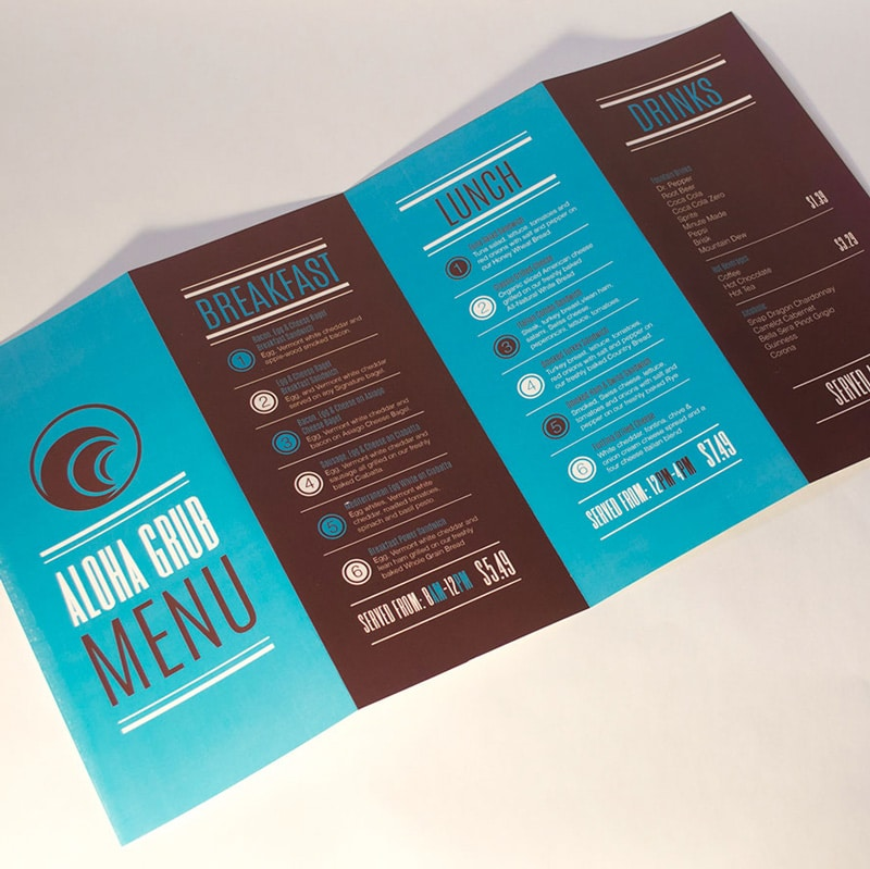 "Custom Menu Printing - Example - ""ALOHA GRUB MENU"""
