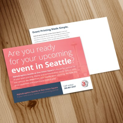 Postcards Example - Event Printing Made Simple