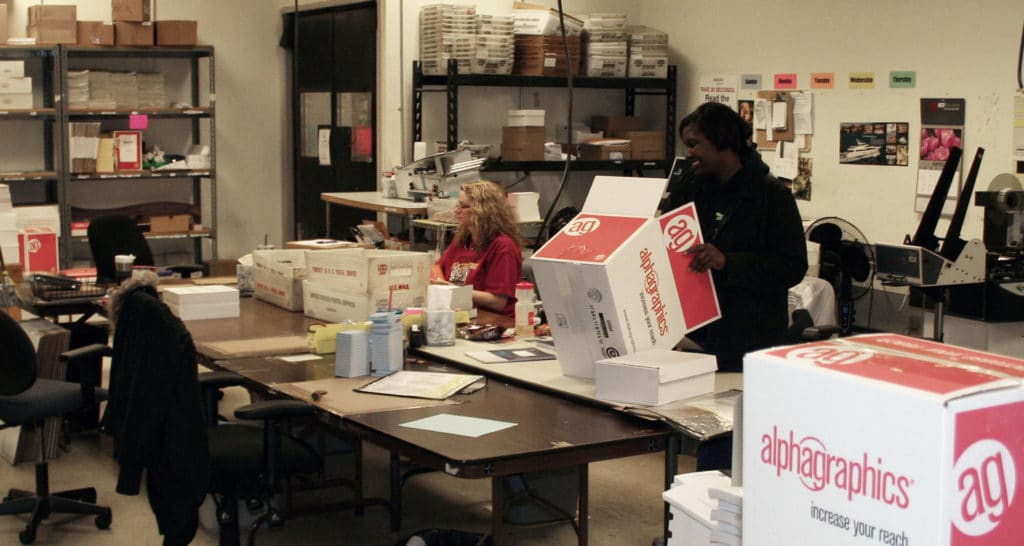 Bindery Services at AlphaGraphics Seattle