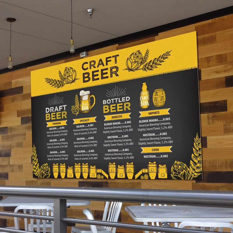 Restaurant Menu Boards (Example Restaurant Boards for Craft Beer)