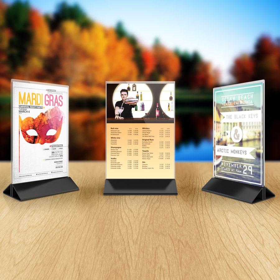Table Top Sign Printing Seattle Custom Table Top Displays