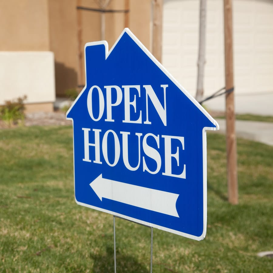 yard sign for open house outdoor event