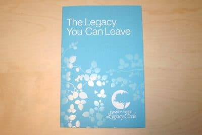 Legacy Tri-Fold Brochure Printed Offset with a Foil Stamp