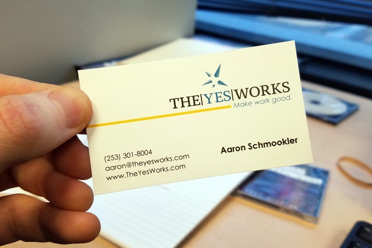 Business card printing the yes works after taking the time to review the yes works art files we discovered the problem their artwork was composed of low quality rasterized images colourmoves