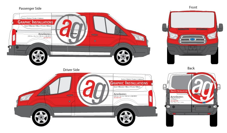 New Alphagraphics Custom Vehicle Wrap Installation