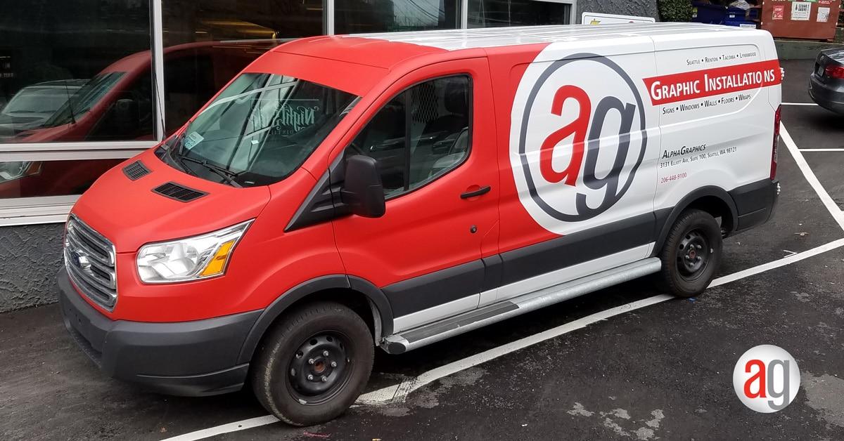 New Alphagraphics Custom Vehicle Wrap Installation
