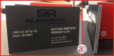 Blackrock Business Card (business card examples)