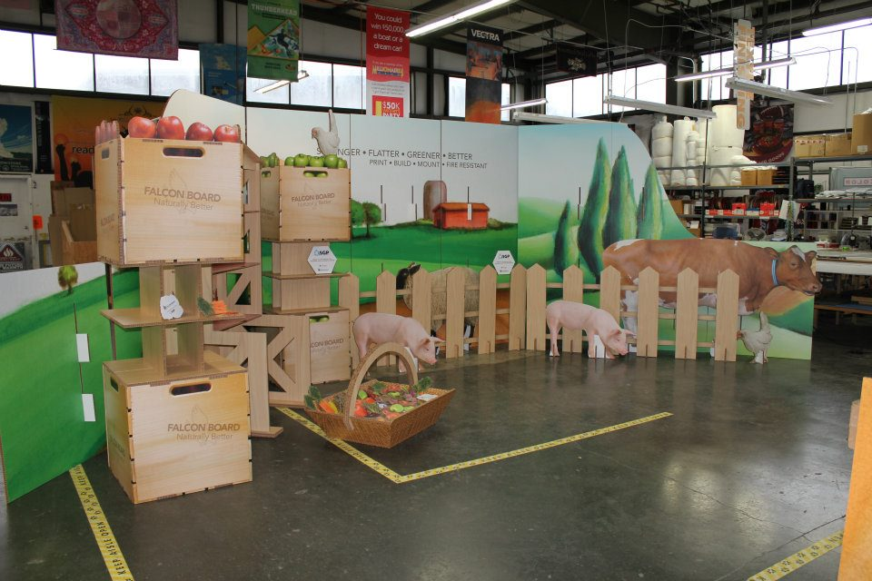 falconboard display printing exhibits large format seattle