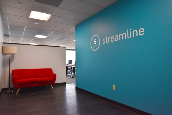 Office Wall And Window Graphic Installation Streamline