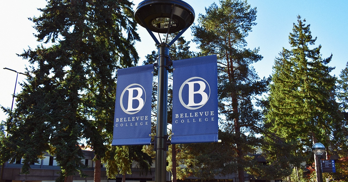 Custom Pole Banners For Bellevue College