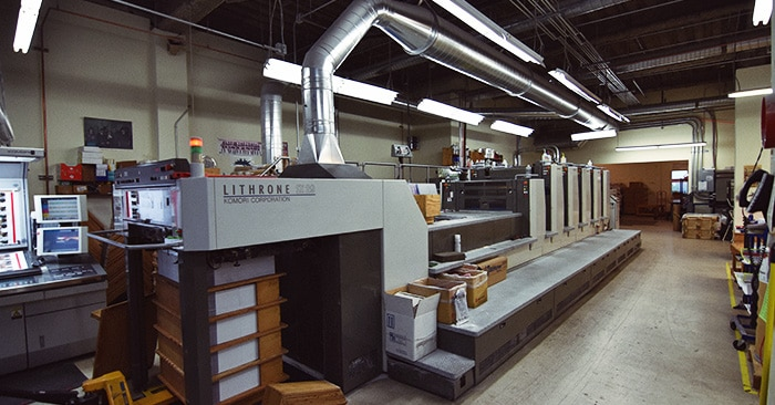alphagraphics seattle komori press