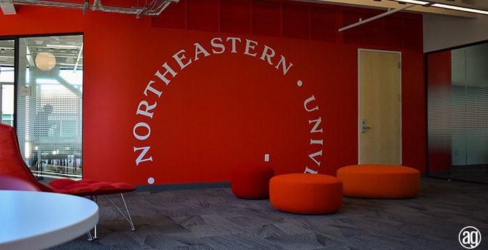 Northeastern University Seattle Campus Graphics